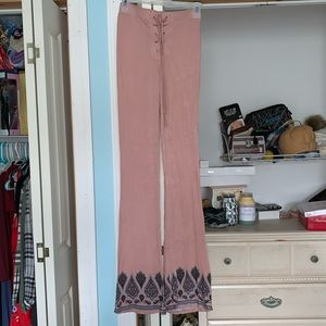 Pink/Nude Flare Pants